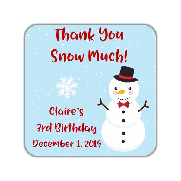 Snowman Stickers OR Tags - Cathy's Creations - www.candywrappershop.com