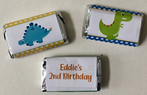 Dinosaur Mini Candy Wrappers - Cathy's Creations - www.candywrappershop.com