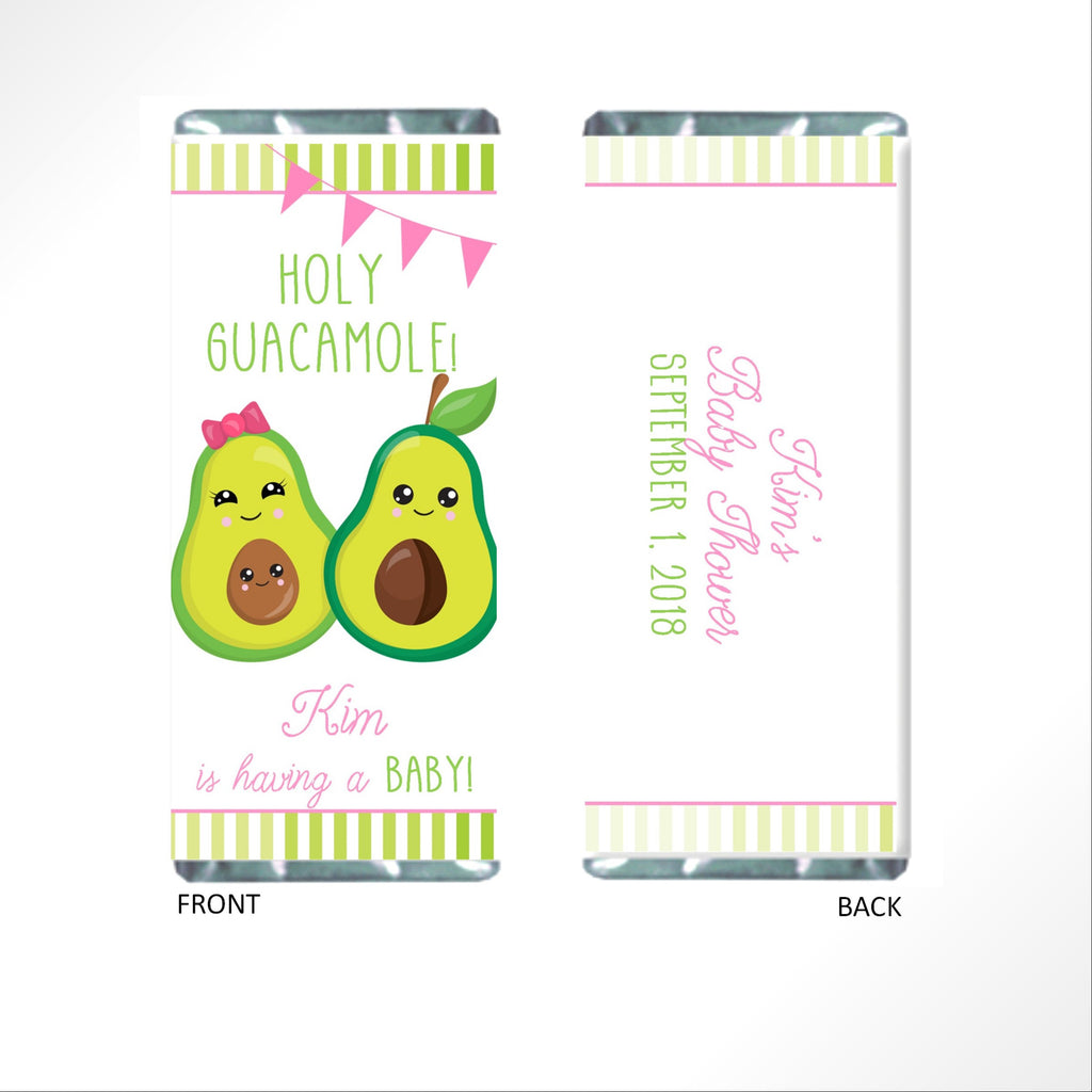 Avocado Baby Shower Candy Bar Wrapper - Cathy's Creations - www.candywrappershop.com
