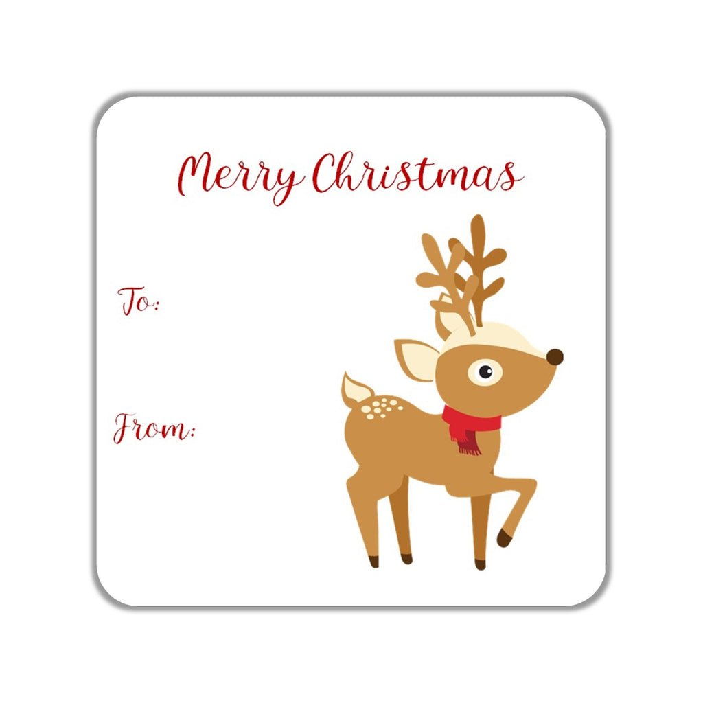 Christmas Reindeer Gift Stickers OR Tags - Cathy's Creations - www.candywrappershop.com