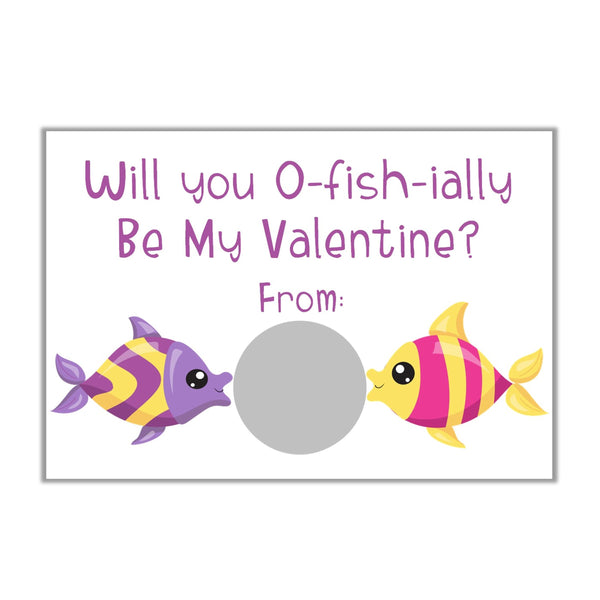 Under the Sea Valentine's Day Scratch off Cards-Scratch Off Cards-Cathy's Creations - www.candywrappershop.com