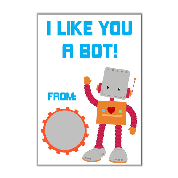 Robot Valentine's Day Scratch off Cards - Cathy's Creations - www.candywrappershop.com