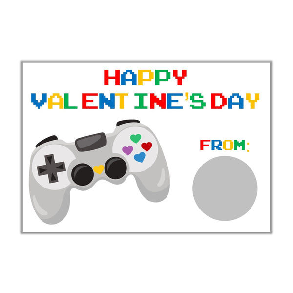 Video Game Valentine's Day Scratch Off Cards - Cathy's Creations - www.candywrappershop.com