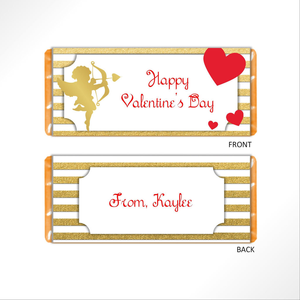 Valentine's Day Cupid Candy Bar Wrapper-Candy Bar Wrapper-Cathy's Creations - www.candywrappershop.com