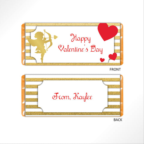Valentine's Day Cupid Candy Bar Wrapper - Cathy's Creations - www.candywrappershop.com