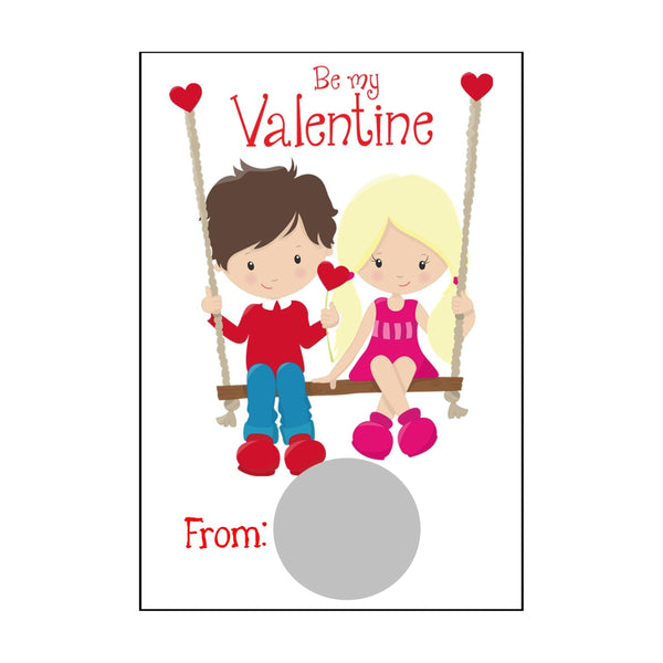 Swinging Kids Valentine's Day Scratch Off Cards - Cathy's Creations - www.candywrappershop.com
