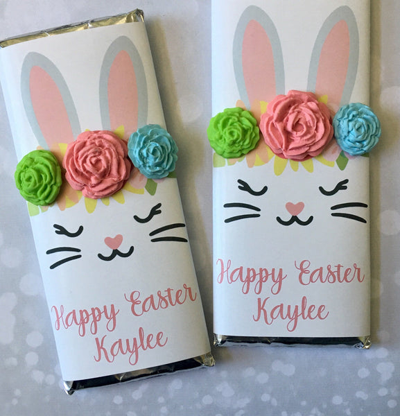 Easter Bunny Candy Bar Wrapper - Cathy's Creations - www.candywrappershop.com
