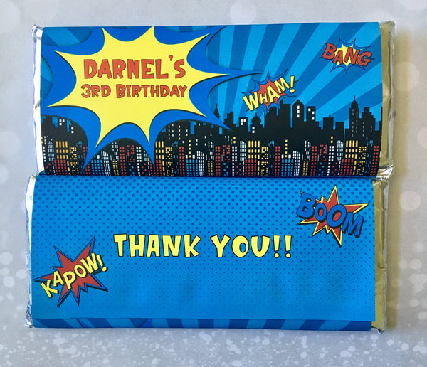Comic Book Candy Bar Wrapper - Cathy's Creations - www.candywrappershop.com