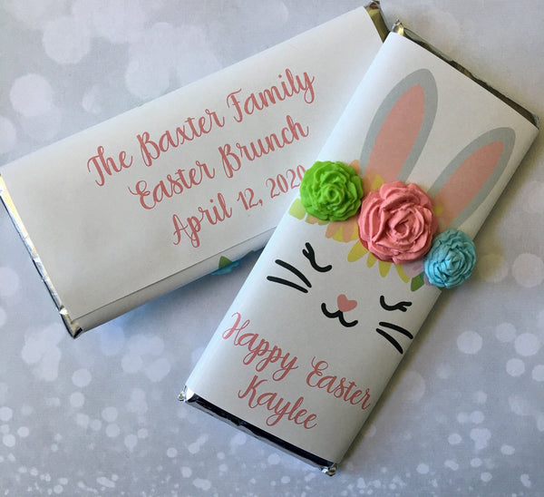 Easter Bunny Candy Bar - Cathy's Creations - www.candywrappershop.com