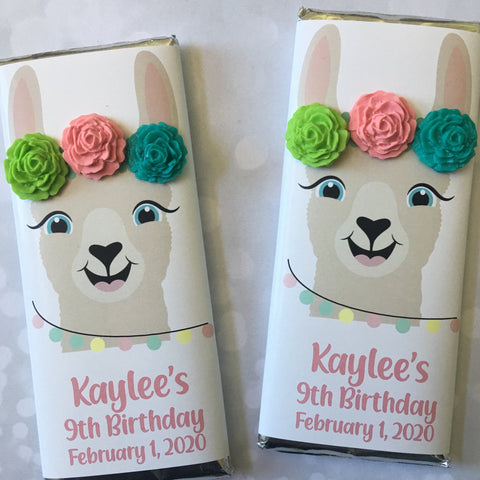 Llama Candy Bar Wrapper Candy Bar Wrapper- Cathy's Creations - www.candywrappershop.com