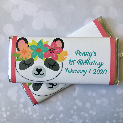 Panda Candy Wrapper Candy Bar Wrapper- Cathy's Creations - www.candywrappershop.com