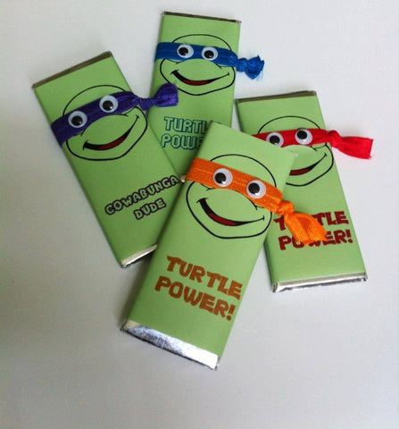 Ninja Turtle Candy Wrapper-Candy Bar Wrapper-Cathy's Creations - www.candywrappershop.com