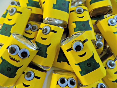 Minion Mini Candy Wrappers-Mini Candy Bar Wrapper-Cathy's Creations - www.candywrappershop.com