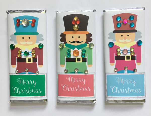 Nutcracker Bling Candy Bar - Cathy's Creations - www.candywrappershop.com