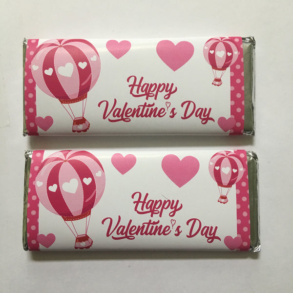 Valentine Hot Air Balloon Candy Bar Wrapper - Cathy's Creations - www.candywrappershop.com