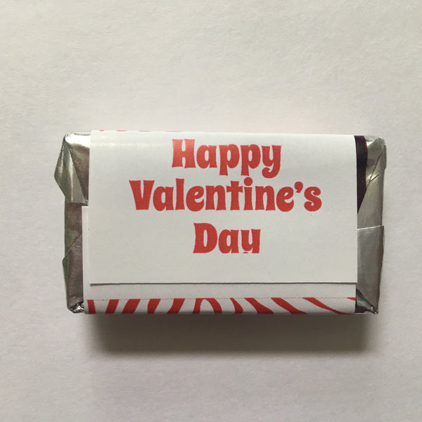 Valentine's Day Safari Mini Candy Wrappers - Cathy's Creations - www.candywrappershop.com