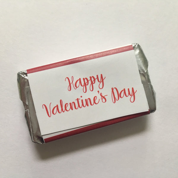 Valentine's Day Heart Mini Candy Wrappers - Cathy's Creations - www.candywrappershop.com