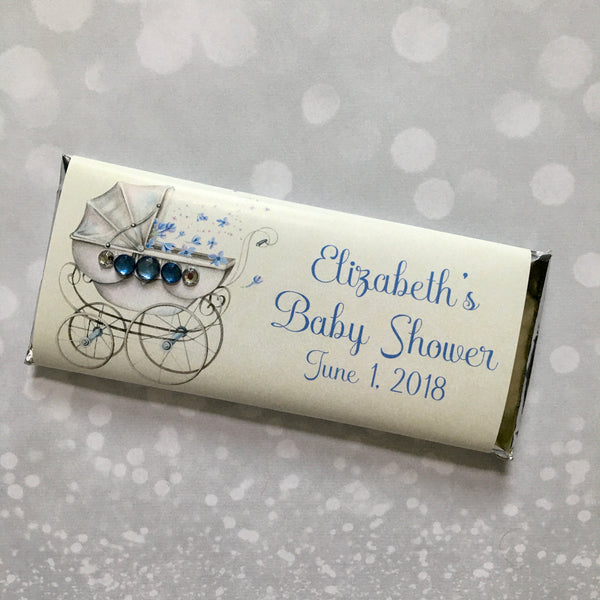 Antique Baby Carriage Candy Bar - Cathy's Creations - www.candywrappershop.com