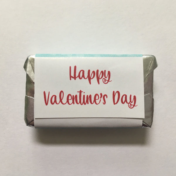Valentine's Day Love Birds Mini Candy Wrappers - Cathy's Creations - www.candywrappershop.com