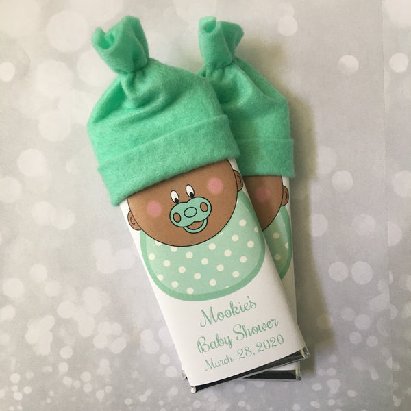 Baby Shower Favor Candy Bar with Hat - Cathy's Creations - www.candywrappershop.com
