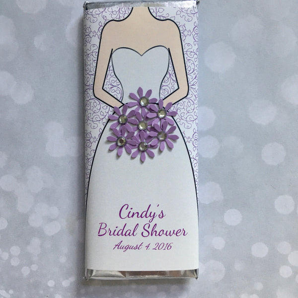 Bridal Bouquet Bling Candy Bar - Cathy's Creations - www.candywrappershop.com