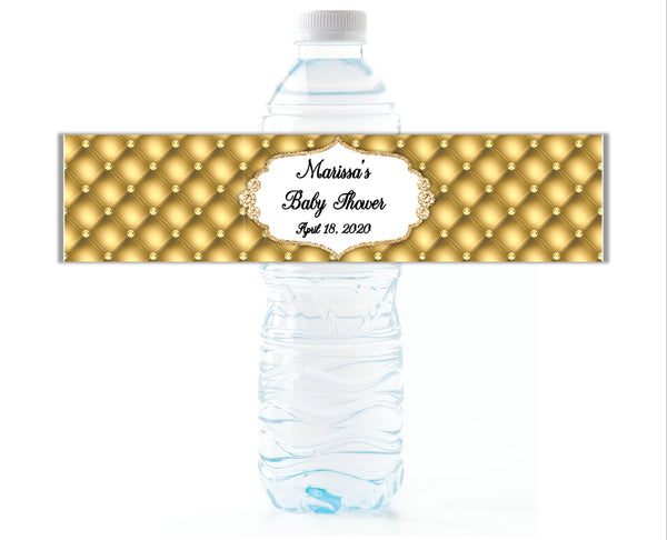 Royal Glamour Water Bottle Labels - Cathy's Creations - www.candywrappershop.com