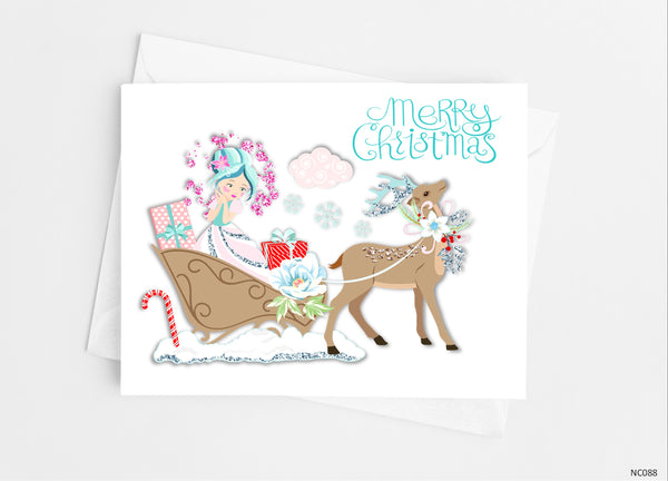 Christmas Fairy Note Cards - Cathy's Creations - www.candywrappershop.com