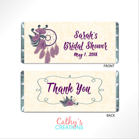 cathy-wraps - Purple Dream Catcher Wrapper - Candy Bar Wrapper