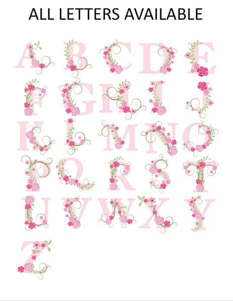 Floral Initial Monogram Note Cards - Cathy's Creations - www.candywrappershop.com