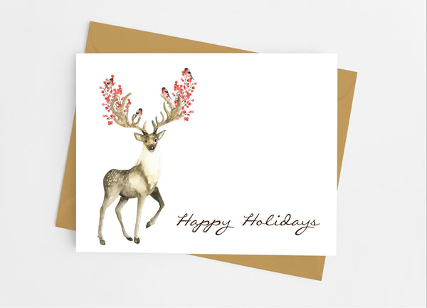 Christmas Deer Note Cards - Cathy's Creations - www.candywrappershop.com
