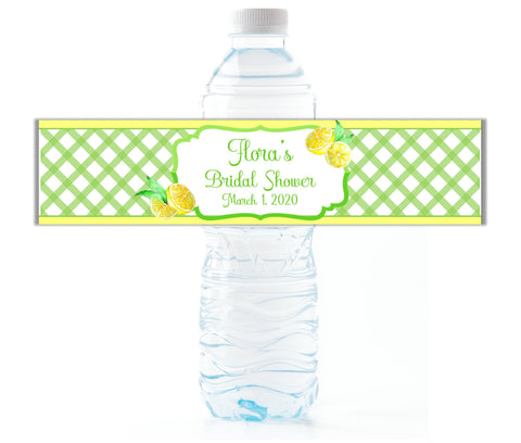 Lemon Water Bottle Labels - Cathy's Creations - www.candywrappershop.com