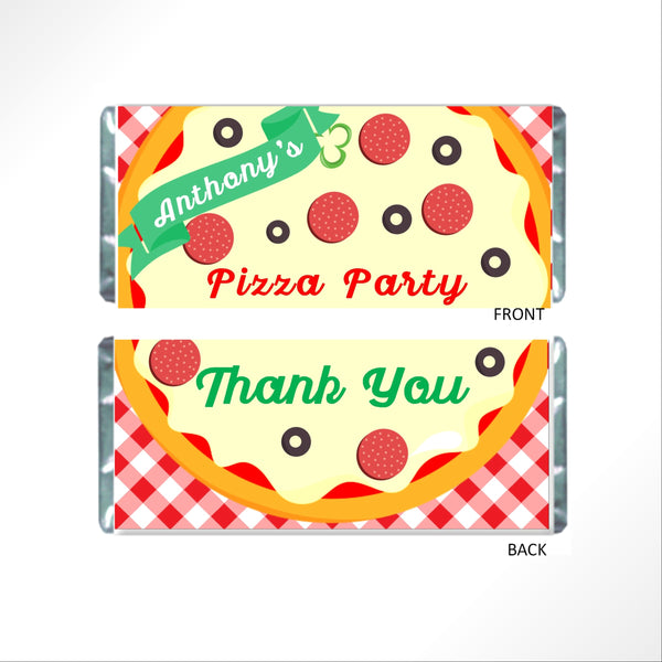 Pizza Party Candy Bar Wrapper - Cathy's Creations - www.candywrappershop.com