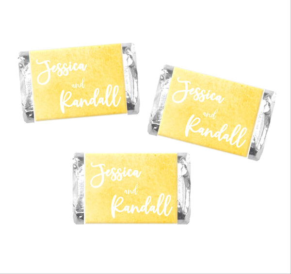 Wedding Colors Mini Candy Bar Wrappers - Cathy's Creations - www.candywrappershop.com