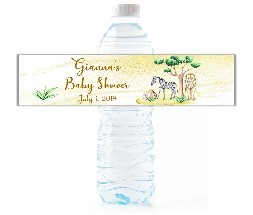 Safari Water Bottle Labels - Cathy's Creations - www.candywrappershop.com
