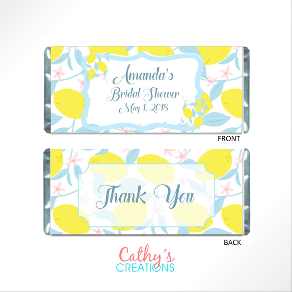 Lemon Candy Bar Wrapper-Candy Bar Wrapper-Cathy's Creations - www.candywrappershop.com