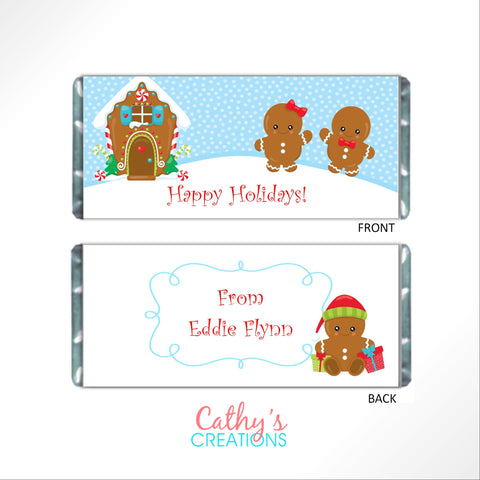 Gingerbread Man Candy Bar Wrapper - Cathy's Creations - www.candywrappershop.com