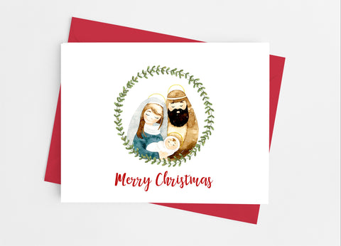 Holy Family Christmas Note Cards - Cathy's Creations - www.candywrappershop.com