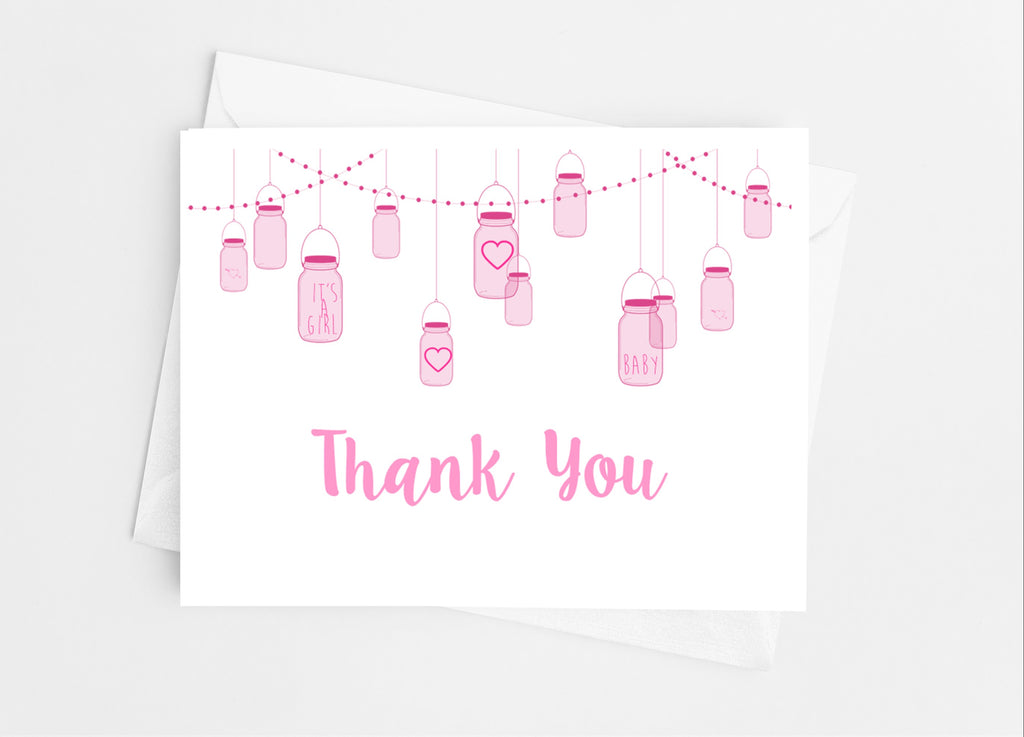 Mason Jar Thank You Cards - Cathy's Creations - www.candywrappershop.com