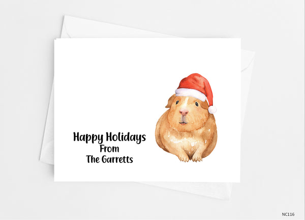 Christmas Guinea Pig Note Cards - Cathy's Creations - www.candywrappershop.com