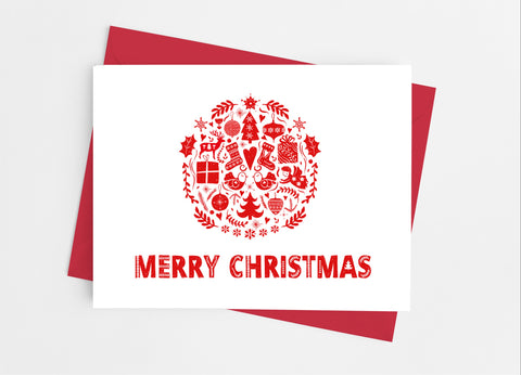 Scandinavian Christmas Note Cards - Cathy's Creations - www.candywrappershop.com
