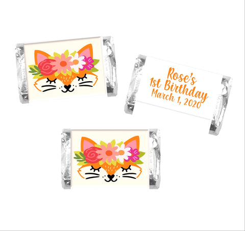 Fox Face Mini Candy Bar Wrappers - Cathy's Creations - www.candywrappershop.com