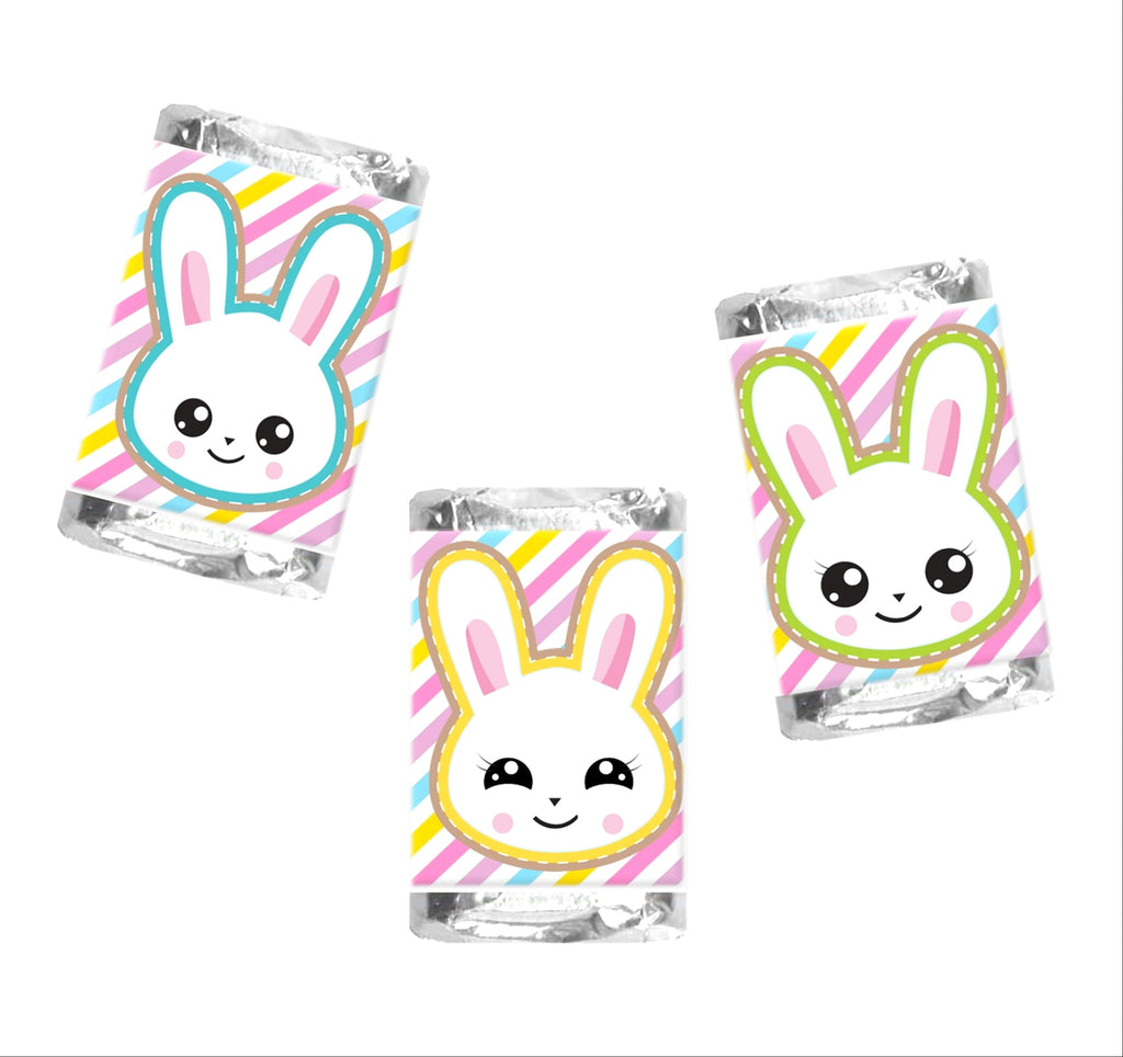 Happy Easter Bunny Mini Candy Bar Wrappers - Cathy's Creations - www.candywrappershop.com