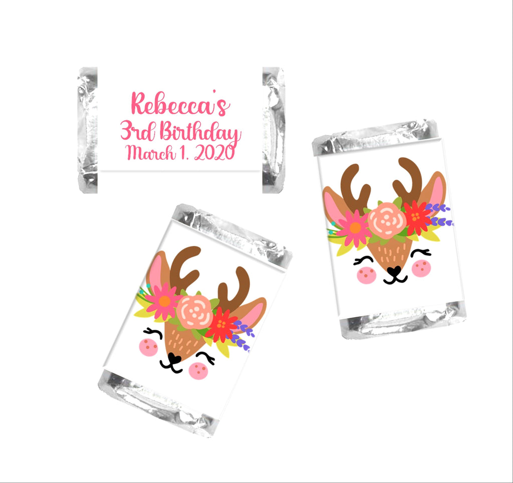 Deer Face Mini Candy Bar Wrappers - Cathy's Creations - www.candywrappershop.com
