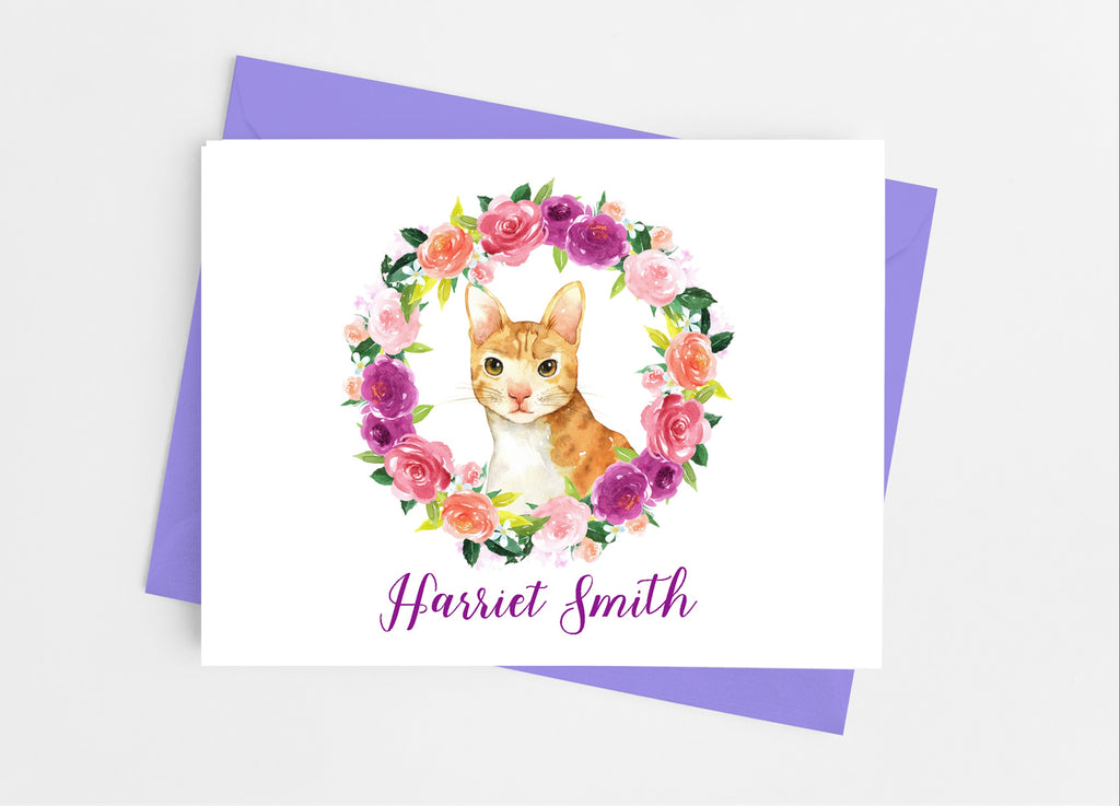 Cat Note Cards - Cathy's Creations - www.candywrappershop.com