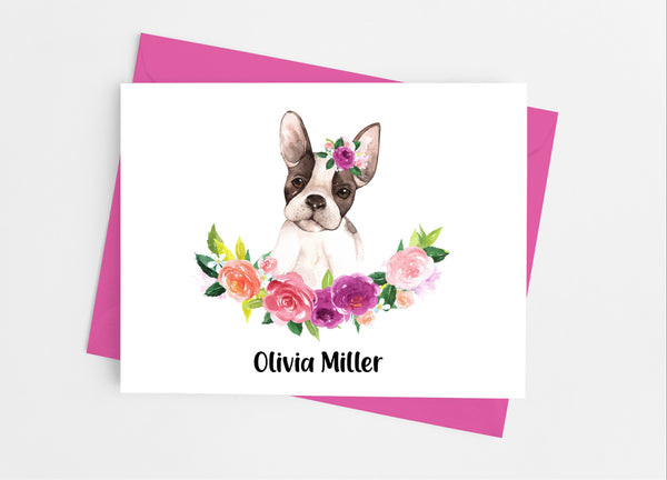 French Bulldog Note Cards - Cathy's Creations - www.candywrappershop.com