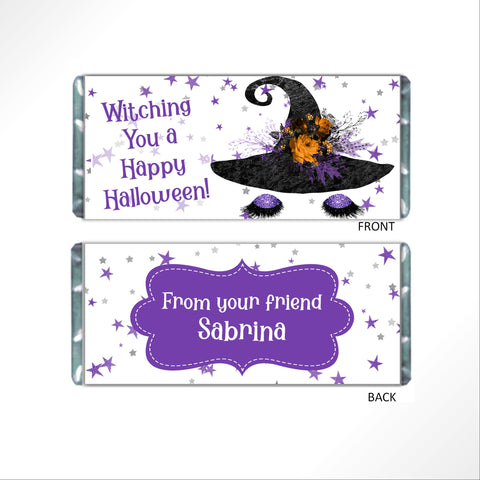 Halloween Witch Candy Bar Wrapper - Cathy's Creations - www.candywrappershop.com