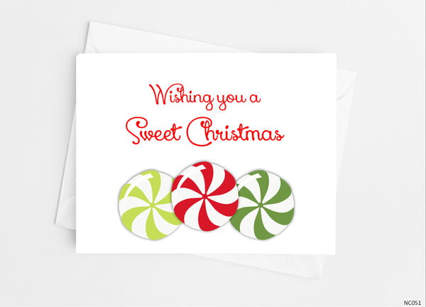 Christmas Candy Note Cards - Cathy's Creations - www.candywrappershop.com