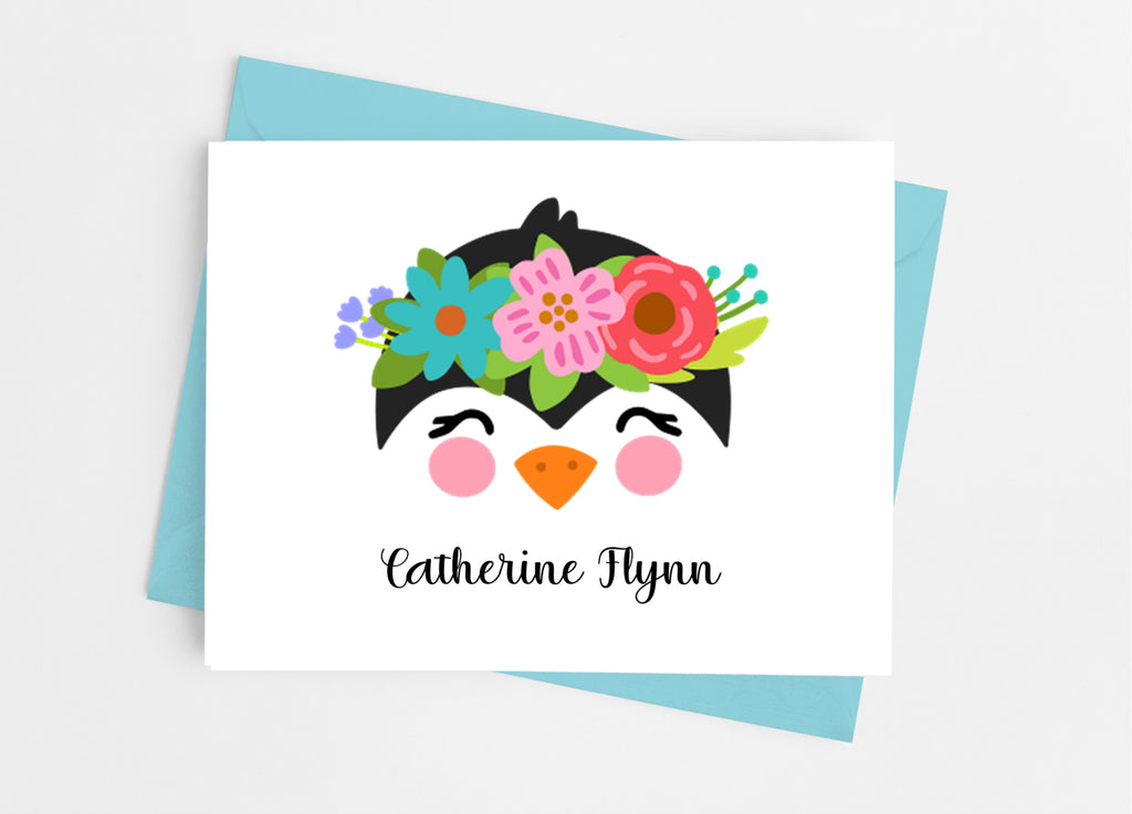 Penguin Face Note Cards - Cathy's Creations - www.candywrappershop.com