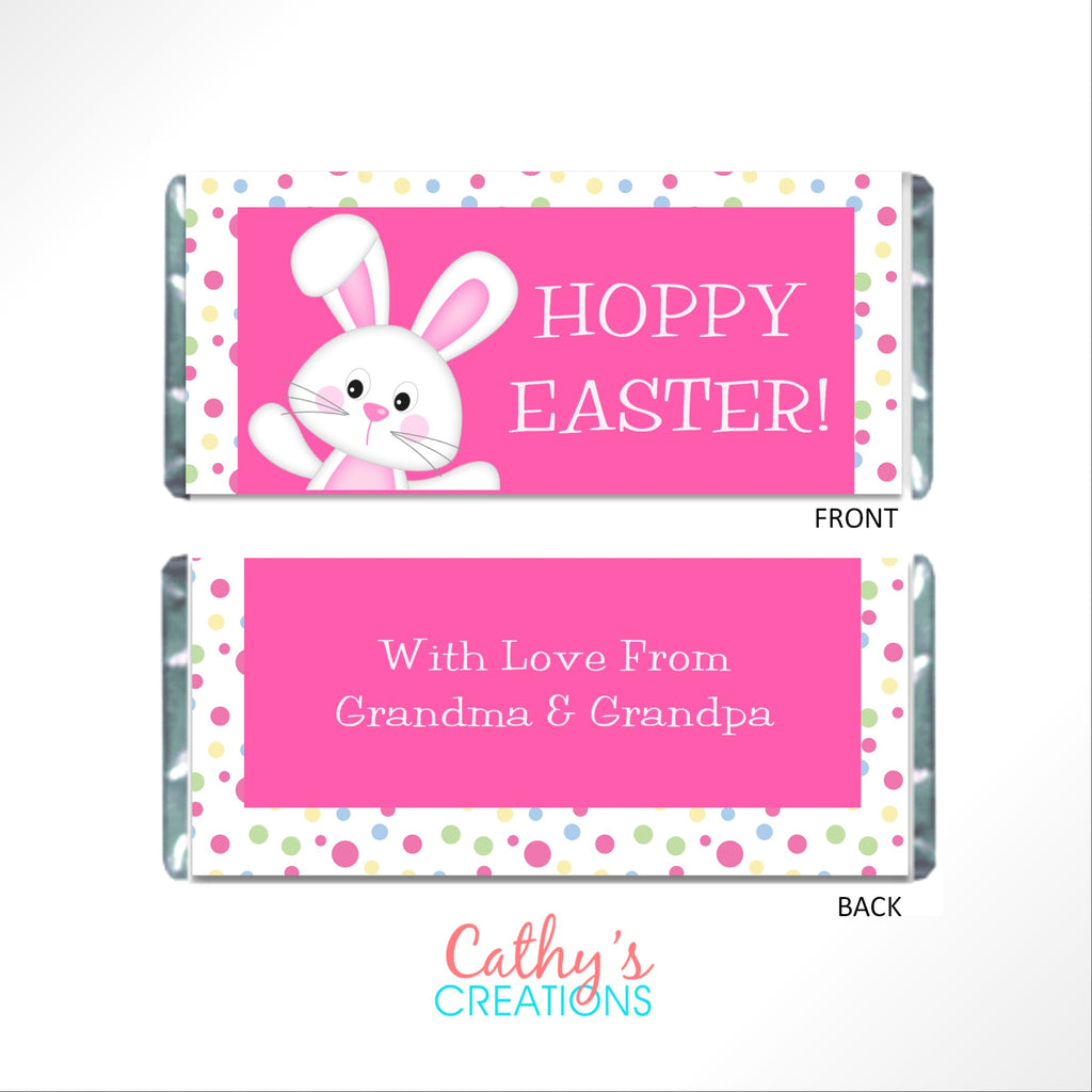 Easter Polka Dots Candy Wrapper Candy Bar Wrapper- Cathy's Creations - www.candywrappershop.com