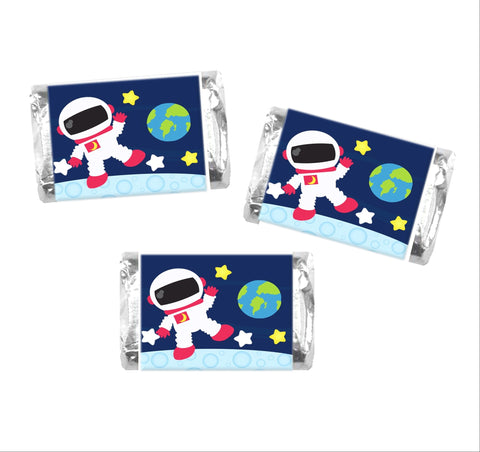 Astronaut Mini Candy Bar Wrappers-Mini Candy Bar Wrapper-Cathy's Creations - www.candywrappershop.com